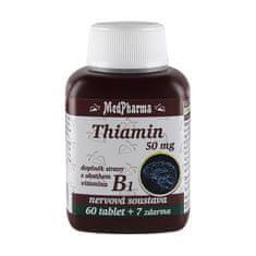 MedPharma Thiamin 50 mg – doplněk stravy s obsahem vitamínu B1 60 tbl. + 7 tbl. ZDARMA