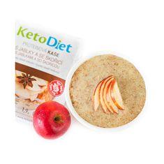 KetoDiet Proteinová kaše s jablečno - skořicovou příchutí 7 x 27 g