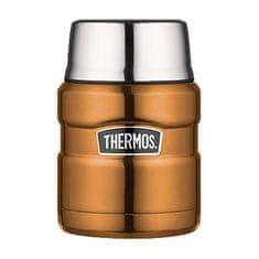 Thermos Style Termoska na jídlo se skládací lžící a šálkem - měděná 470 ml