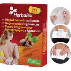 Herbamedicus Hřejivé náplasti s kaštanem 3+1 gratis + bederní pás
