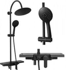 REA Sprchový set Vigo černý (REA-P7001)