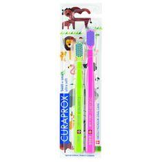 Curaprox 5460 Ultra Soft ANIMAL Family Edition 2 db extra puha fogkefe