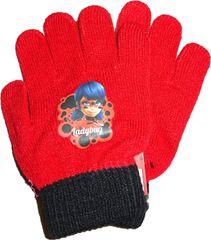 Nickelodeon Červené pletené rukavice s kouzelnou beruškou.