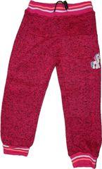 KUGO Dívčí růžové zateplené tepláky s jednorožcem.