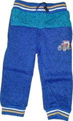 KUGO Chlapecké modré zateplené tepláky s traktorem.
