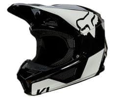 FOX detská helma Yth V1 Revn, Ece black/white