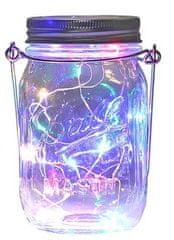 Bezdoteku LEDSolar solárne závesná vianočné poháre s reťazou multicolor 1 ks, IPRO, 1W, multicolor