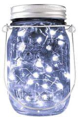 Bezdoteku LEDSolar solárne závesná vianočné poháre s reťazou studená biela 1 ks, iPRO, 1W, studená biela