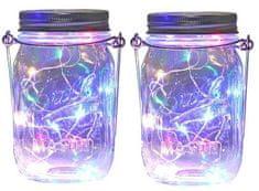 Bezdoteku LEDSolar solárne závesná vianočné poháre s reťazou multicolor 2 ks, iPRO, 1W, multicolor