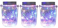 Bezdoteku LEDSolar solárne závesná vianočné poháre s reťazou multicolor 3 ks, iPRO, 1W, multicolor