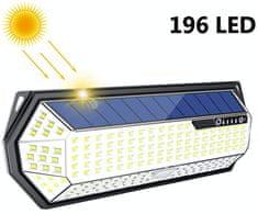 Bezdoteku LEDSolar 196 solárne vonkajšie svetlo svietidlo, 196 LED so senzorom, bezdrôtové, 4W, studená farba