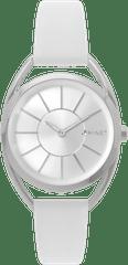 MINET Bílé dámské hodinky MINET ICON SILVER WHITE