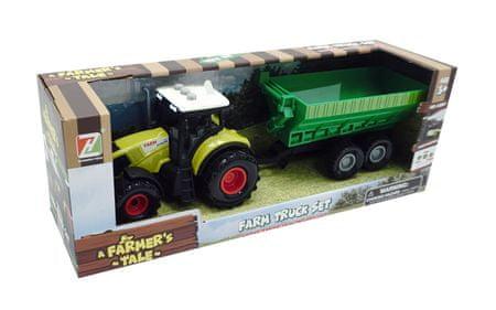 Unikatoy Farm traktor s prikolico, 35 cm (25422)