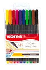 Kores K-Liner flomasteri, 10 boja