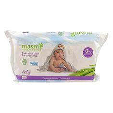 Masmi Dětské vlhčené ubrousky z organické bavlny 60 ks