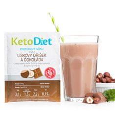 KetoDiet Proteinový nápoj příchuť lískový oříšek a čokoláda 7 porcí