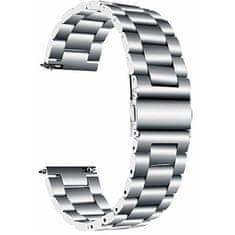 4wrist Ocelový tah pro Samsung Galaxy Watch - Silver 22 mm