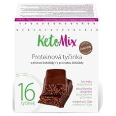 KetoMix Proteínové tyčinky s príchuťou čokolády 16 x 40 g