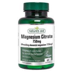 Natures Aid Citrát hořečnatý 750 mg 60 tobolek