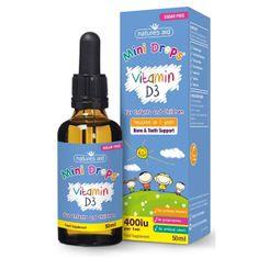 Natures Aid Vitamín D3 kvapky pre deti (400iu) - 50 ml