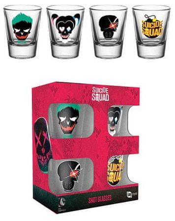 Kieliszki DC Comics - Suicide Squad Skulls (zestaw 4 kieliszków)