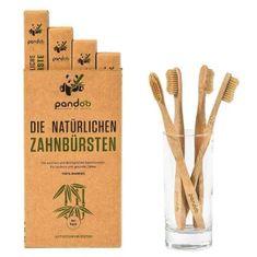 Pandoo Bambusové zubné kefky Medium Soft - výhodné balenie 4 ks