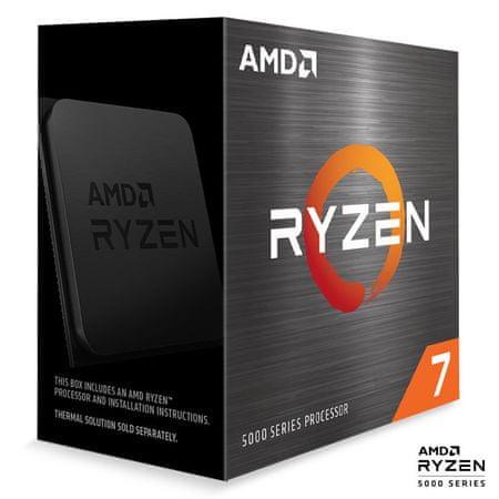 AMD Ryzen 7 5800X procesor, 8 jeder, 16 niti, 105 W (100-100000063WOF)