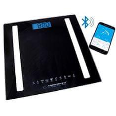 Esperanza Osobní elektronická a diagnostická váha 8v1 s bluetooth B fit Scale - černá