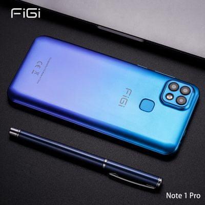 moderný smartphone aligator figi note 1 pro 4gb 128 gb bluetooth 16mpx zadný fotoaparát 4g lte dual sim fm rádio gps glonass 8jadrový procesor wifi laminácia displeja gradientná barevná úprava 4000mah batéria