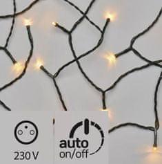 Emos 80 LED svetlobna veriga 8 m, vintage, IP44, s časovnikom, zelena