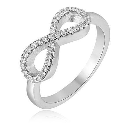 Beneto Srebrny pierścionek Nieskończoność AGG208 (obwód 52 mm) srebro 925/1000