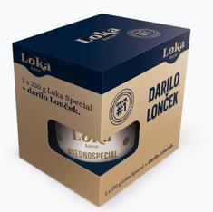 Loka kava Special darilno pakiranje, 2 x 250 g + lonček