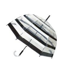 Deštník průhledný holový černobílé pruhy