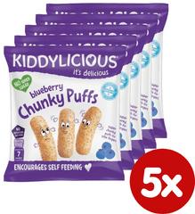 Kiddylicious Ovocné chrumky - Čučoriedka 5x12 g