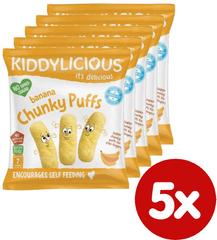Kiddylicious Ovocné chrumky - Banán 5x 12 g