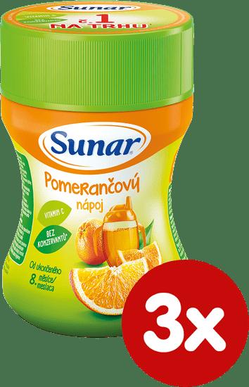 Sunar Pomarančový nápoj, 3 x 200g