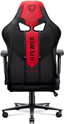 Gaming kolečková židle Diablo-Chairs X-Player 2.0, černá/červená (5902560337181) nastavitelné opěradlo područky