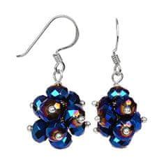 JwL Luxury Pearls Błyszczące kolczyki wyciętych ciemnoniebieskich kryształów JL0270