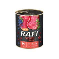 RAFI paštéta s hovädzím mäsom, čučoriedkami a brusnicami 800g