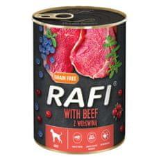 RAFI paštéta s hovädzím mäsom, čučoriedkami a brusnicami 400g
