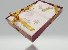 CORONET HOME Vianočný uterák JELEŇ. Sada 2 kus.
