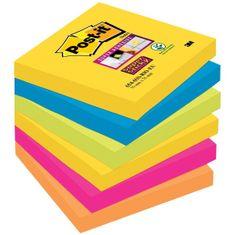 3M Post-It Super Sticky blok 654-6SS, 76 x 76 mm, 6 kom