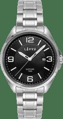 LAVVU Pánské hodinky se safírovým sklem LAVVU HERNING Black