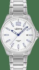 LAVVU Pánské hodinky se safírovým sklem LAVVU NORDKAPP White