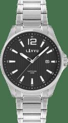 LAVVU Pánské hodinky se safírovým sklem LAVVU NORDKAPP Black