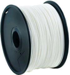 Gembird tlačová struna, ABS, 1,75mm, 1kg, biela (3DP-ABS1.75-01-W)