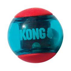 KONG Squeezz Action lopta za pse, M, crvena