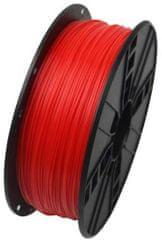 Gembird tlačiarenská struna, ABS, 1,75mm, 1kg, fluorescenčná červená (3DP-ABS1.75-01-FR)