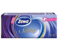 Zewa Papírové kapesníčky ZEWA Softis Standard, 4vrstvy, 10x9 ks