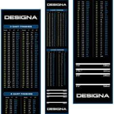 Designa Gumový koberec Checkout 290x60cm, modrý, s povrchom zo systetického vlákna